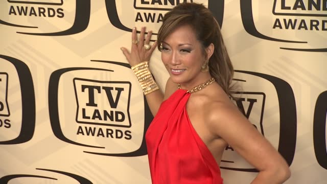 carrie ann inaba at tv land awards 10th anniversary arrivals at lexington avenue armory on april 14 2012 in new york ny - tv land awards stock videos and b-roll footage