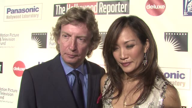 carrie ann inaba nigel lythgoe on attending to support adam shankman how broadway and hollywood compare their favorite broadway show at the 'a fine... - motion picture & television fund stock videos & royalty-free footage