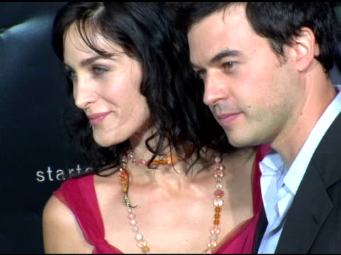 carrie anne moss at the 'collateral' los angeles premiere at the orpheum theatre in los angeles, california on august 2, 2004. - orpheum theatre stock videos & royalty-free footage