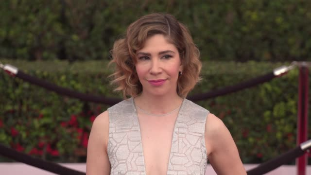 carrie brownstein at the 22nd annual screen actors guild awards - arrivals at the shrine auditorium on january 30, 2016 in los angeles, california.... - shrine auditorium stock videos & royalty-free footage