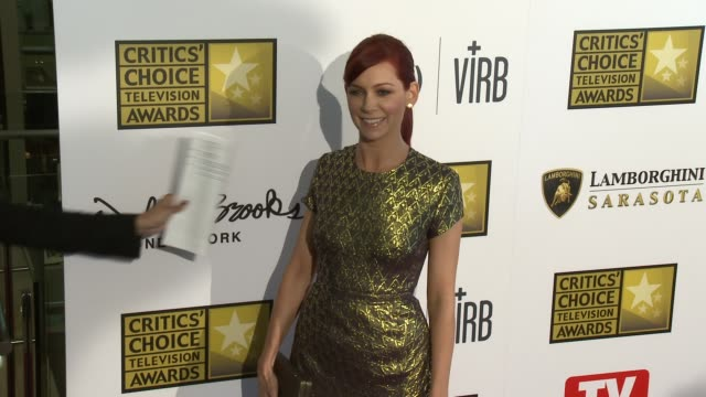 Carrie Preston at Broadcast Television Journalists Association's 3rd Annual Critics' Choice Television Awards on 6/10/2013 in Beverly Hills CA