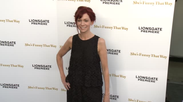 """carrie preston at the """"she's funny that way"""" los angeles premiere at harmony gold theatre on august 19, 2015 in los angeles, california. - she's funny that way点の映像素材/bロール"""