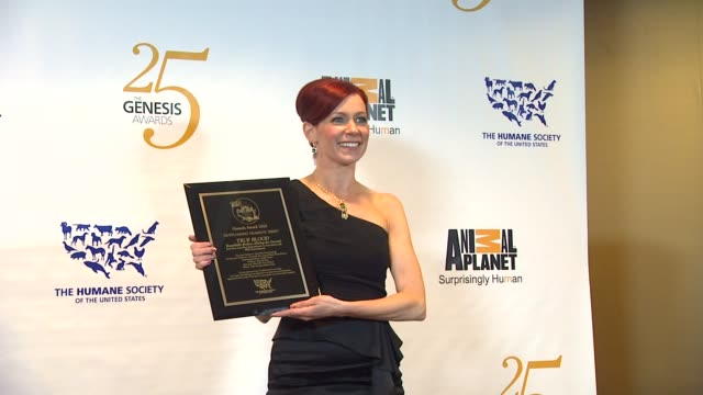 Carrie Preston at the The 25th Anniversary Genesis Awards Presented By The Humane Society Of The United States at Century City CA