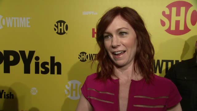 INTERVIEW Carrie Preston talks about her character and being an optimist at The SHOWTIME Premiere Of The Original Comedy Series HAPPYish at Sunshine...