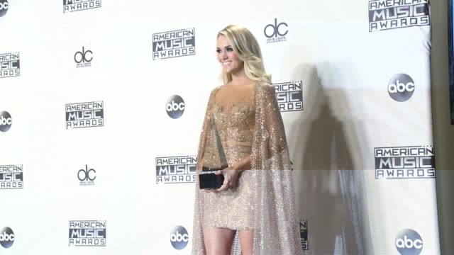 carrie underwood at 2015 american music awards in los angeles ca - 2015 stock videos & royalty-free footage