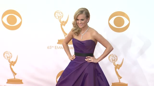 carrie underwood at 65th annual primetime emmy awards arrivals on 9/22/2013 in los angeles ca - annual primetime emmy awards stock-videos und b-roll-filmmaterial