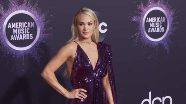 carrie underwood at the 2019 american music awards at microsoft theater on november 24 2019 in los angeles california - american music awards video stock e b–roll