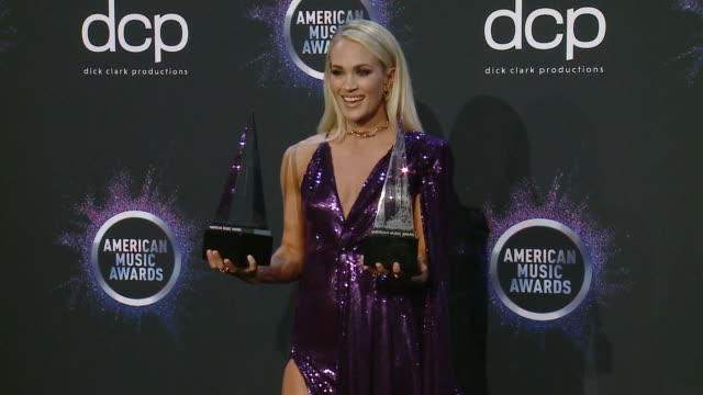 carrie underwood at the 2019 american music awards at microsoft theater on november 24 2019 in los angeles california - american music awards stock videos & royalty-free footage