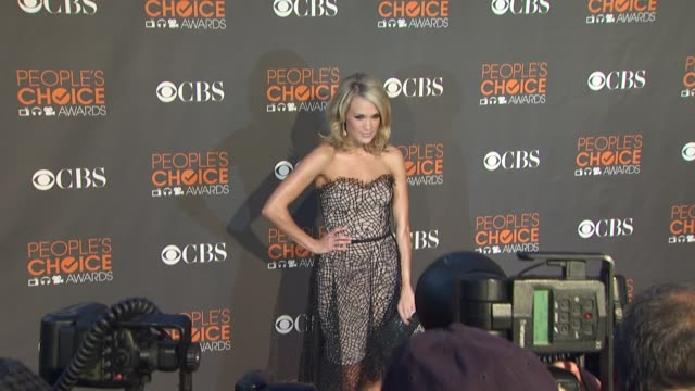 carrie underwood at the 36th annual people's choice awards at los angeles ca. - people's choice awards stock videos & royalty-free footage