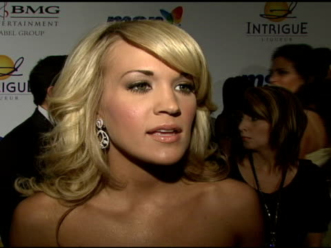 Carrie Underwood on the event and Clive Davis at the Clive Davis 2008 PreGrammy Awards Party at NULL in Beverly Hills California on February 9 2008