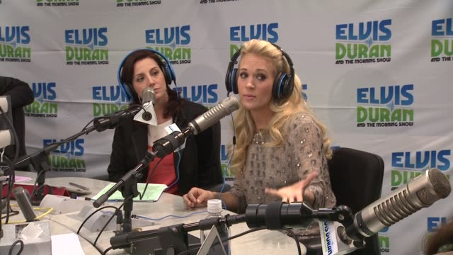 carrie underwood on the new american idol at carrie underwood visits z100 elvis duran morning show at z100 studio on april 30 2012 in new york new... - american idol stock videos and b-roll footage