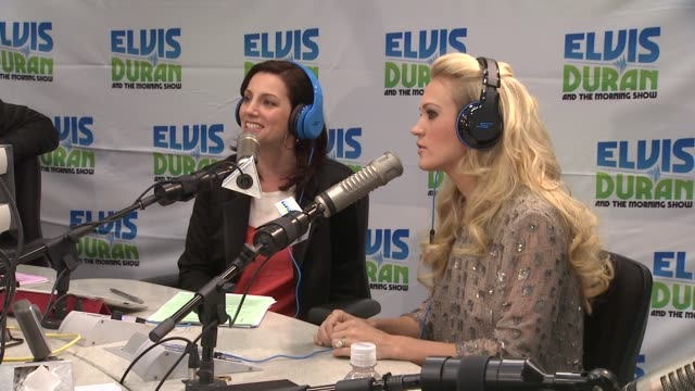 carrie underwood on watching american idol at carrie underwood visits z100 elvis duran morning show at z100 studio on april 30 2012 in new york new... - american idol stock videos and b-roll footage