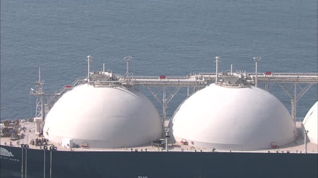 lng carrier in osaka bay - industrial sailing craft stock videos & royalty-free footage
