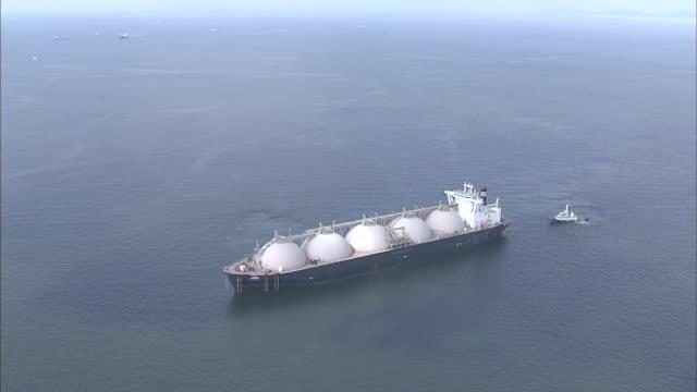 LNG Carrier In Osaka Bay