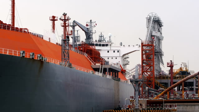 lng carrier terminal - tanker stock videos & royalty-free footage