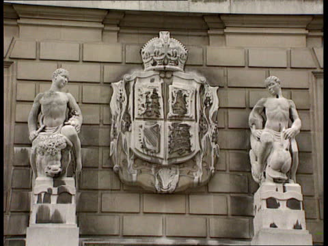 carrot pesticide scare itn whitehall place maff ms sign on wall ministry of agriculture fisheries and food la ms stone carved coat of arms over... - place sign stock videos & royalty-free footage