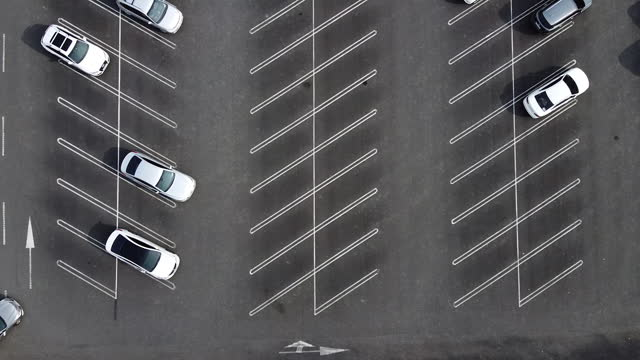 cars at parking lot / hanam-si, gyeonggi-do, south korea - parking stock videos & royalty-free footage