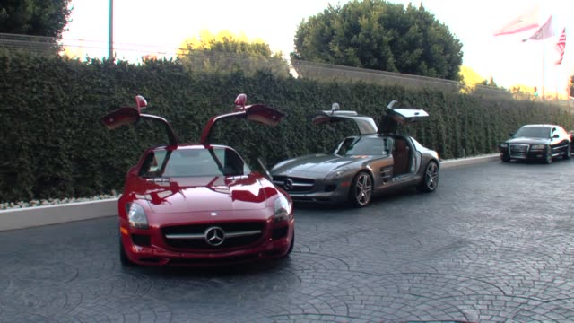 Cars at the MercedesBenz Exclusive Preview Of The 2011 SLS AMG In Grand Turismo 5 at Los Angeles CA