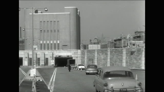cars being directed into the lincoln tunnel;1957 - 1957 stock videos & royalty-free footage