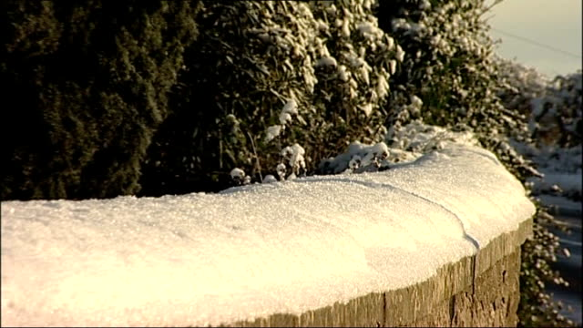 cars driving in snow / good scenes of snowy countryside good shot silhouetted cross snowcovered fields and winter sky in background / fence covered... - eaves stock videos and b-roll footage