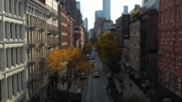 cars driving in SoHo Manhattan NYC