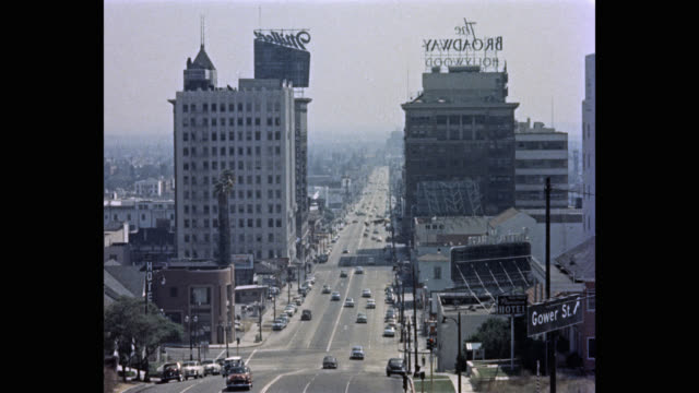 cars driving on highway in city, los angeles, california, usa - 1950 stock videos & royalty-free footage