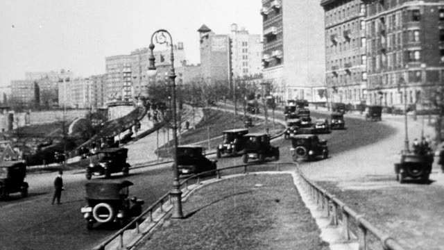 cars driving up riverside drive riverside drive in new york city - 1916 stock videos & royalty-free footage