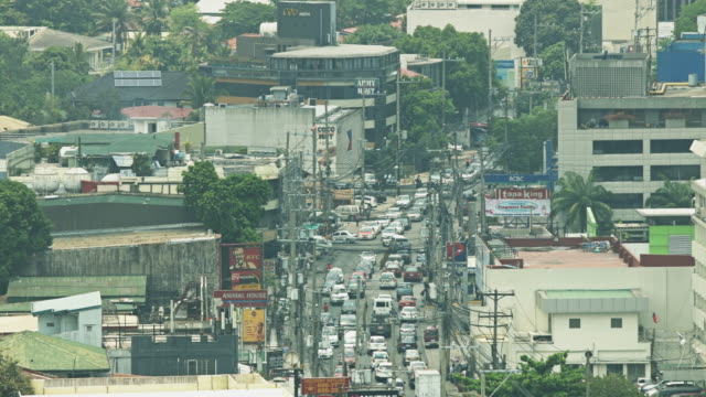 Cars in Manila Intersection From Above