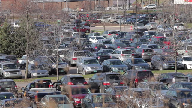 Cars in packed parking lot on Black Friday