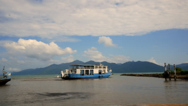 cars loaded on a ferry and headed for the island koh chang - koh chang stock videos and b-roll footage