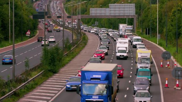 Cars  Lorries & Vans On Motorway M60 Motorway, Manchester, England