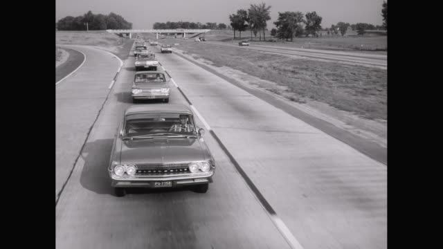 ws pov cars moving on road / united states - on the move video stock e b–roll