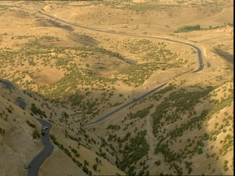 cars on mountain winding road / kurdistan iraq - winding road stock videos & royalty-free footage