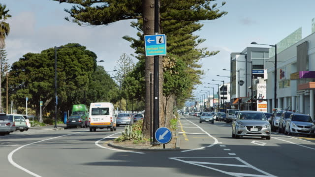 Cars on Street in Napier, New Zealand