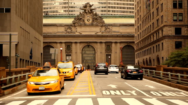 Cars on Street to Grand Central Station