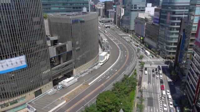 カー路上の銀座、東京、日本-4 k - 高速道路点の映像素材/bロール