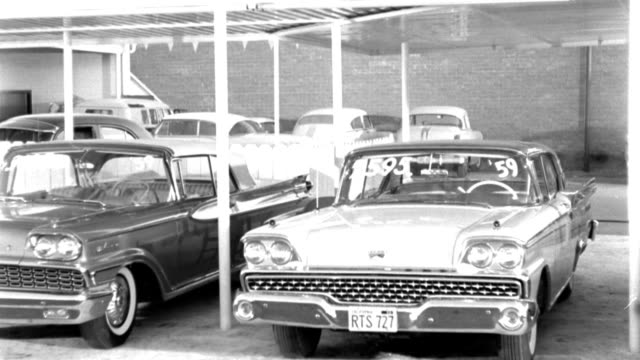 cars park in a used car lot in 1959. - 1959 stock videos & royalty-free footage
