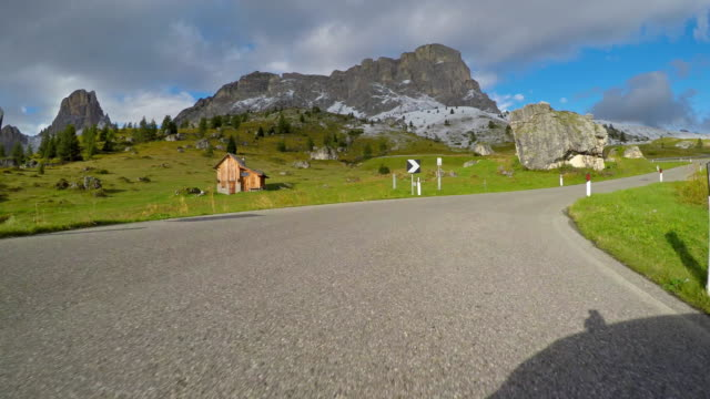 cars point of view driving up a mountain pass - mgost stock videos and b-roll footage
