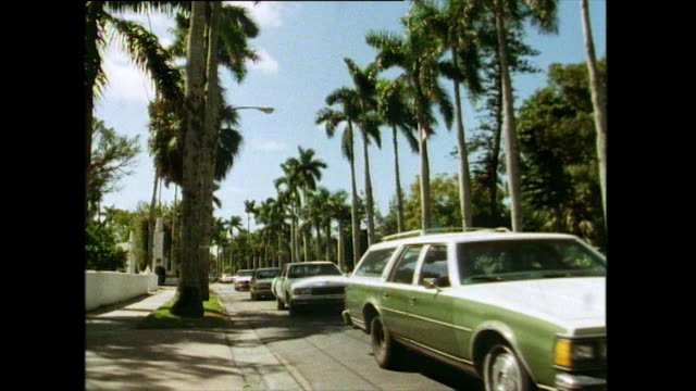 cars queue on road in fort myers, florida; 1991 - fort myers stock videos & royalty-free footage