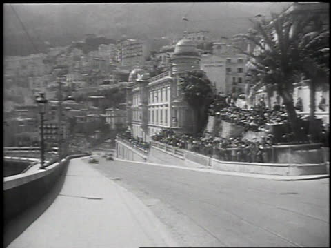 cars racing during riviera grand prix / monte carlo monaco - 1930 stock-videos und b-roll-filmmaterial