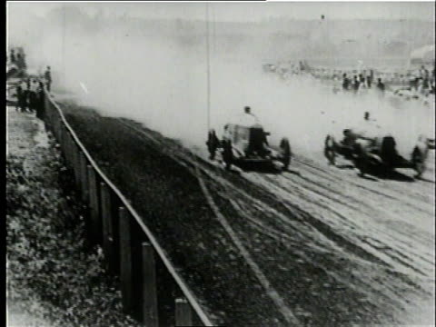 montage cars racing in the vanderbilt cup / long island new york united states - anno 1906 video stock e b–roll