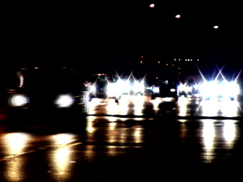 cars speed in the night -time lapse - personal land vehicle stock videos & royalty-free footage