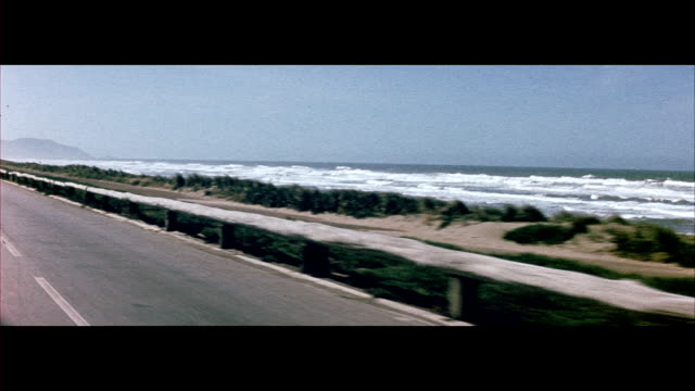 1955 cars traveling along pacific coast highways near san francisco - 1950 stock videos & royalty-free footage