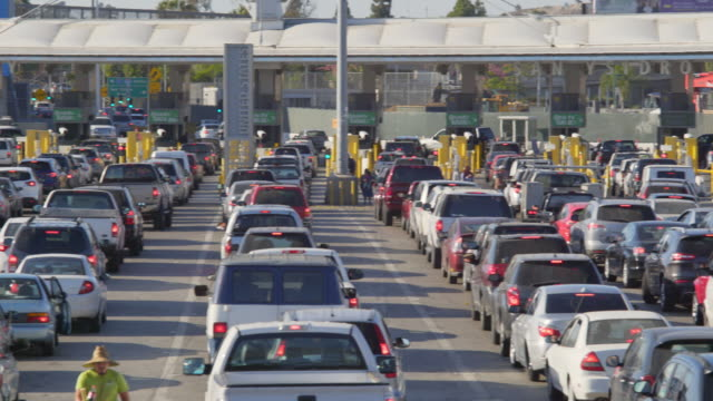 Cars Waiting at the US-Mexico Border