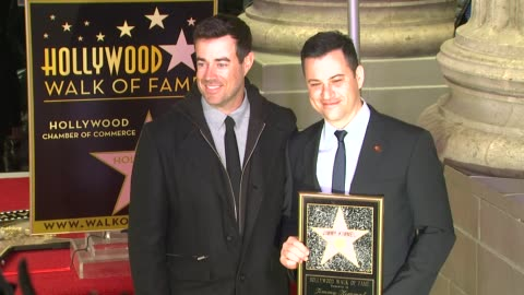 stockvideo's en b-roll-footage met carson daly and jimmy kimmel at jimmy kimmel honored with star on the hollywood walk of fame in hollywood, ca, on 1/25/13. - jimmy kimmel