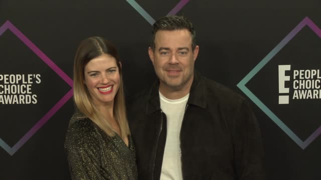 Carson Daly and Siri Pinter at the People's Choice Awards 2018 at Barker Hangar on November 11 2018 in Santa Monica California