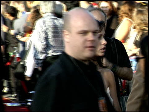 Carson Daly at the 1999 MTV Movie Awards entrances at Barker Hanger in Santa Monica California on June 5 1999
