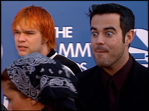 Carson Daly at the 2000 Grammy Awards arrivals at Staples Center in Los Angeles California on February 23 2000