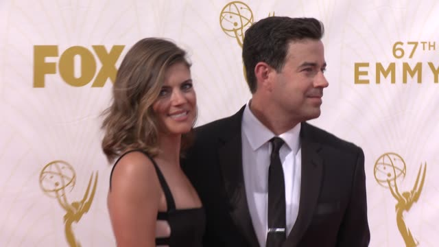 Carson Daly at the 67th Annual Primetime Emmy Awards at Microsoft Theater on September 20 2015 in Los Angeles California