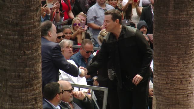 Carson Daly at the *NSYNC Honored with a Star on the Hollywood Walk of Fame on April 30 2018 in Hollywood California